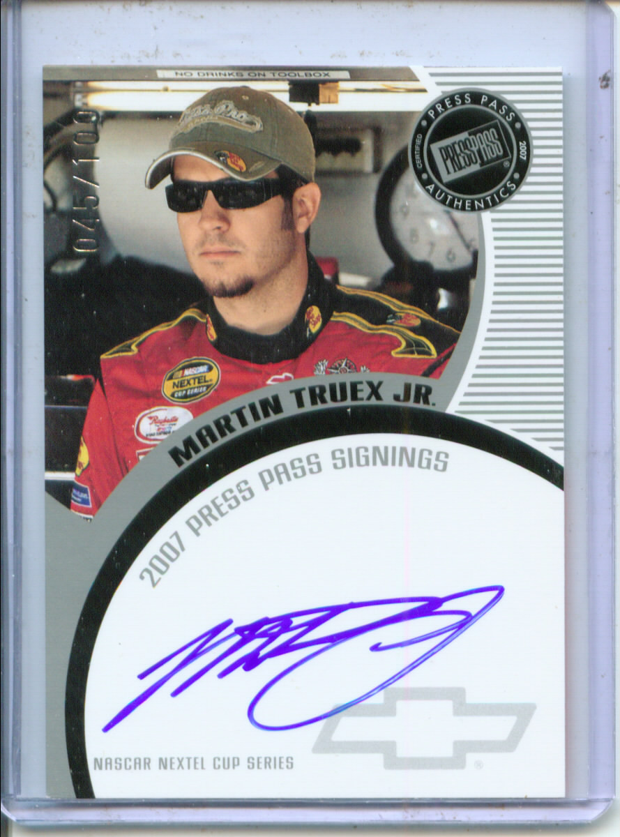 2007 Press Pass Signings Silver #53 Martin Truex Jr. NC P/S/T