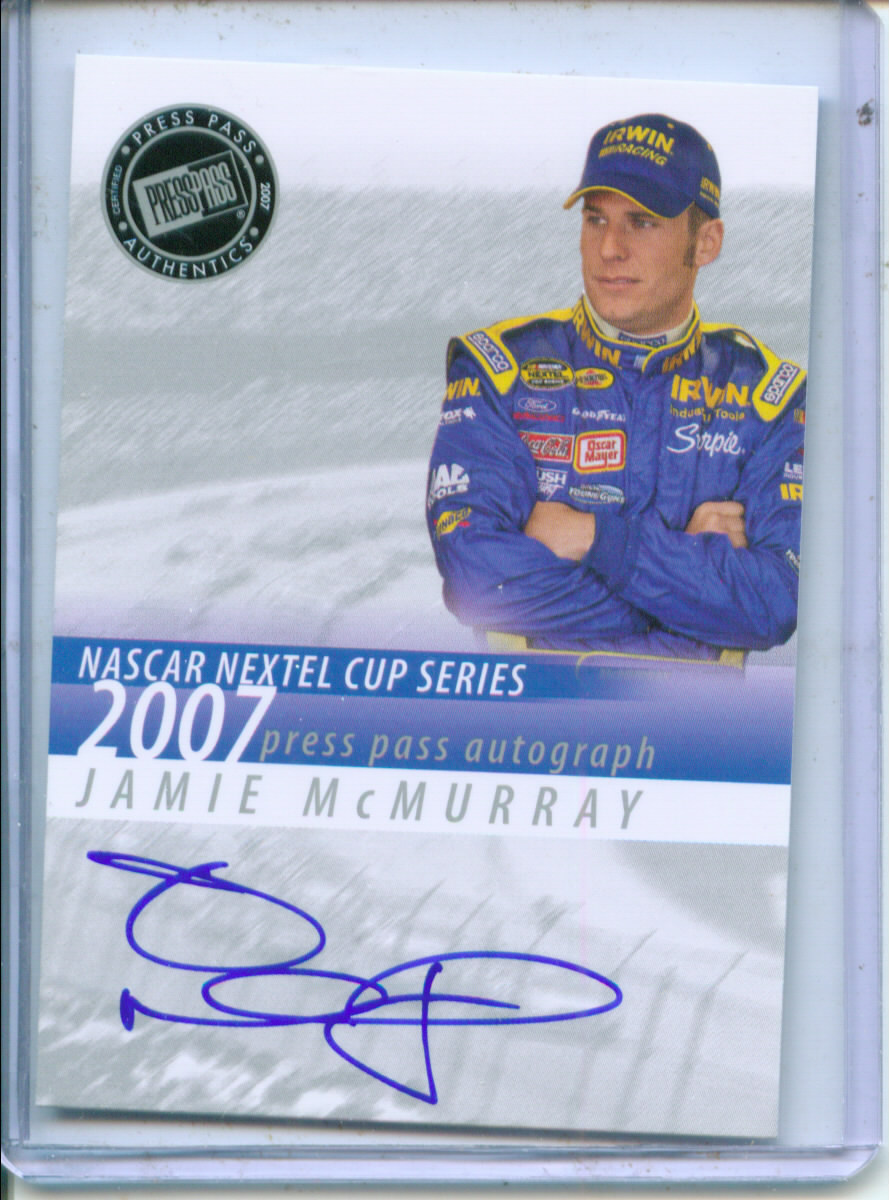 2007 Press Pass Autographs #30 Jamie McMurray NC P