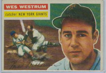 1956 Topps #156 Wes Westrum