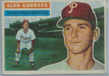 1956 Topps #174 Glen Gorbous RC