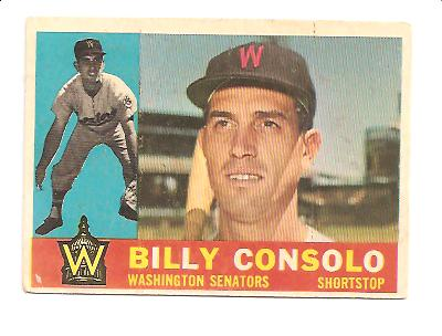 1960 Topps #508 Billy Consolo EX Actual scan