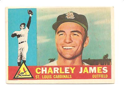 1960 Topps #517 Charley James EX+ Actual scan