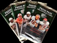 2 PACK LOT : 2008 Press Pass Draft Picks Football Factory Sealed Hobby Pack - ( Random Autographs!)