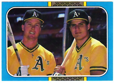 1987 Donruss Highlights #40 M.McGwire/J.Canseco