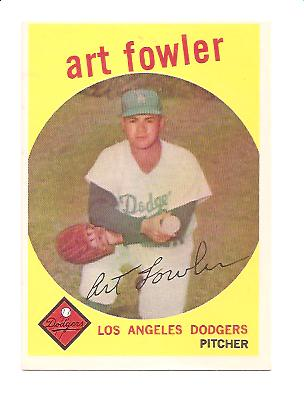 1959 Topps #508 Art Fowler EXMT Actual scan