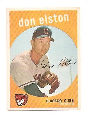 1959 Topps #520 Don Elston EX+ Actual scan