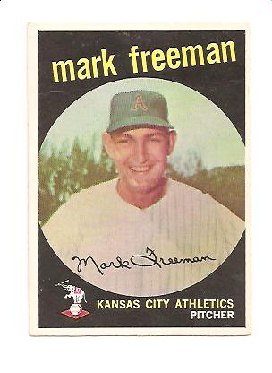 1959 Topps #532 Mark Freeman RC EX Actual scan