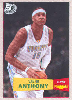 2007-08 Topps 1957-58 Variations #15 Carmelo Anthony