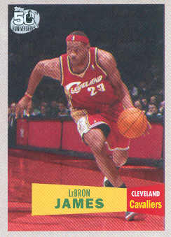 2007-08 Topps 1957-58 Variations #23 LeBron James