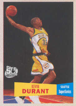 2007-08 Topps 1957-58 Variations #112 Kevin Durant front image