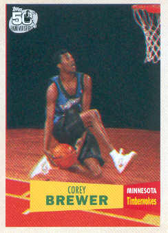 2007-08 Topps 1957-58 Variations #117 Corey Brewer
