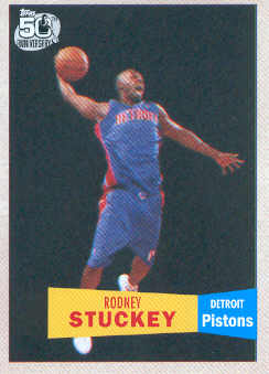 2007-08 Topps 1957-58 Variations #125 Rodney Stuckey