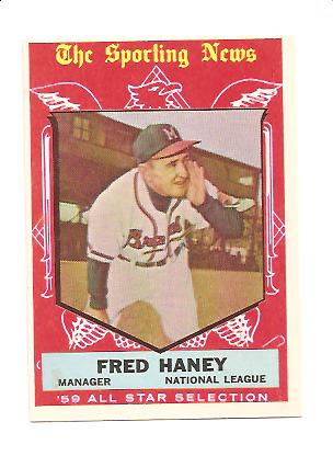 1959 Topps #551 Fred Haney AS MG