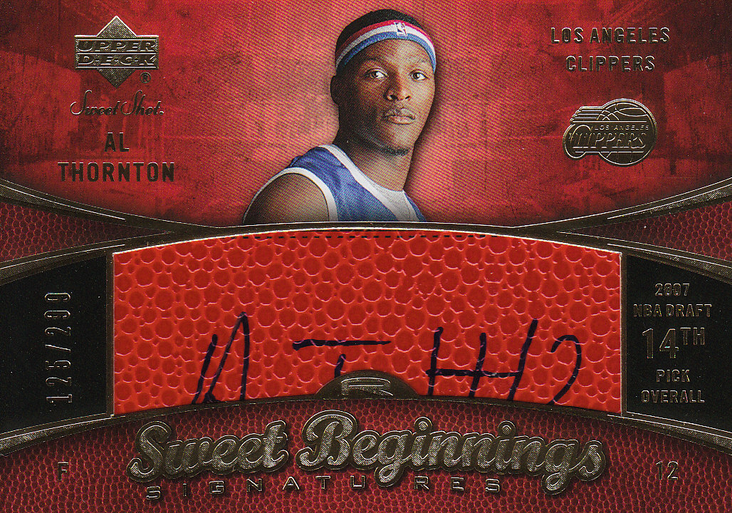 2007-08 Sweet Shot #95 Al Thornton AU RC