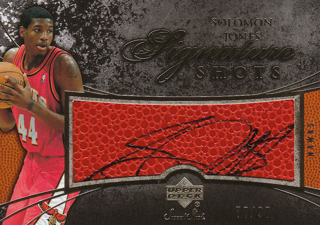 2007-08 Sweet Shot Signature Shots #SJ Solomon Jones/195