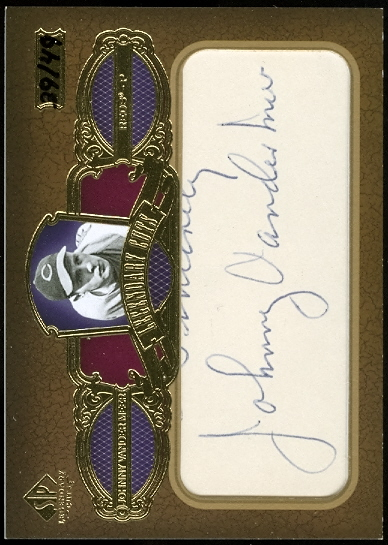 2007 SP Legendary Cuts Legendary Cut Signatures #JV Johnny Vander Meer/49
