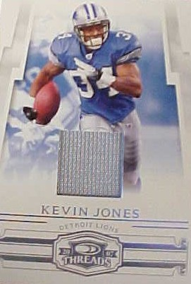 2007 Donruss Threads Jerseys Prime #87 Kevin Jones