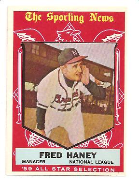 1959 Topps #551 Fred Haney AS EXMT Actual scan