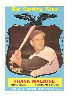1959 Topps #558 Frank Malzone AS EXMT Actual scan