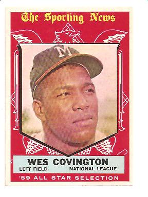 1959 Topps #565 Wes Covington AS EXMT Actual scan