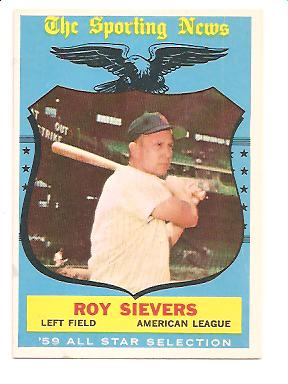 1959 Topps #566 Roy Sievers AS EXMT Actual scan