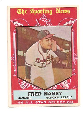 1959 Topps #551 Fred Haney AS VG+ Actual scan