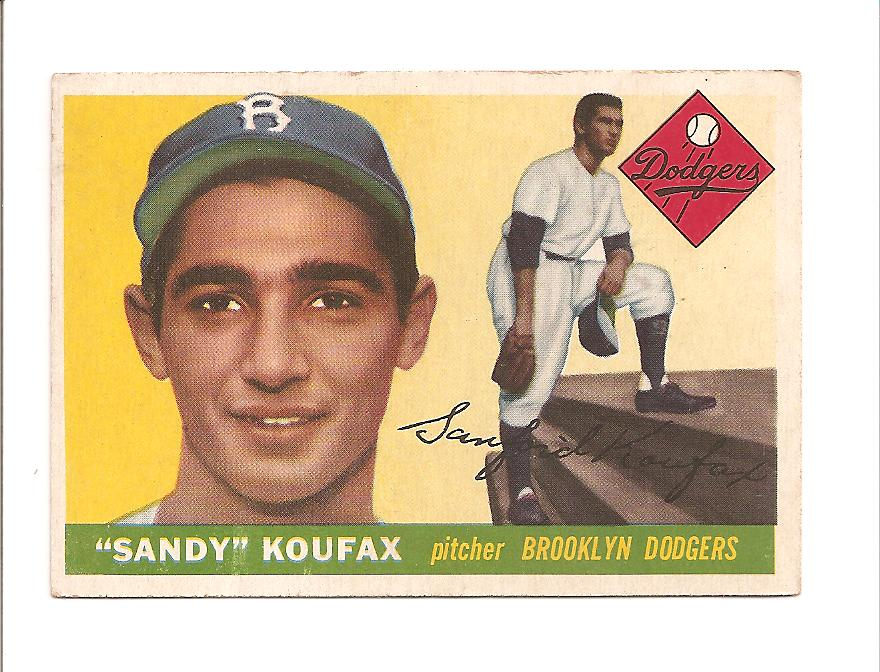 1955 Topps #123 Sandy Koufax RC