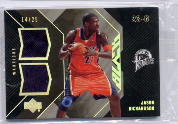 2006-07 UD Black Dual Materials 25 #JR Jason Richardson