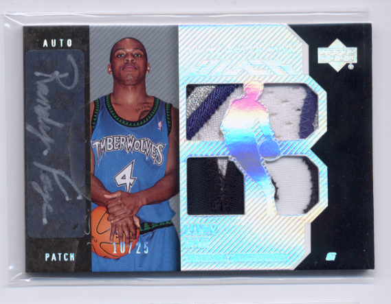 2006-07 UD Black Patches Autographs #RF Randy Foye