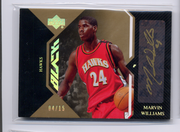 2006-07 UD Black Autographs Veterans 15 #MW Marvin Williams