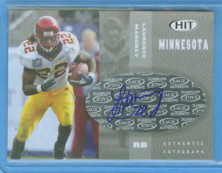 2006 SAGE HIT Autographs Blue #22 Laurence Maroney