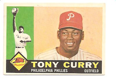 1960 Topps #541 Tony Curry RC Actual scan