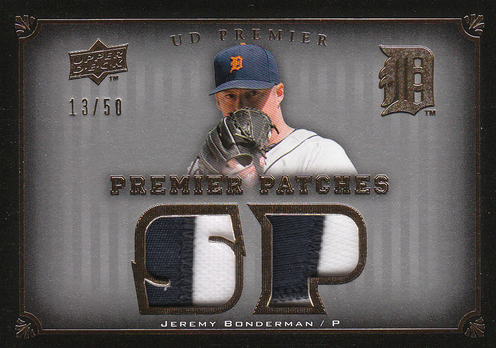 2008 Upper Deck Premier Patches Gold #JB Jeremy Bonderman