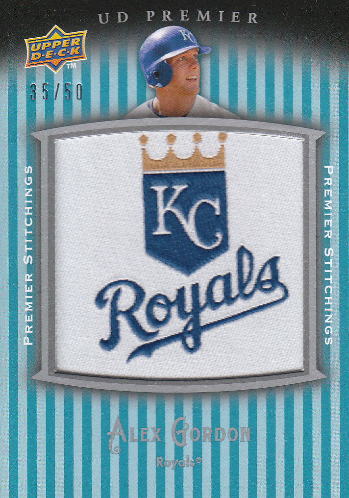 2008 Upper Deck Premier Stitchings #AG Alex Gordon/50