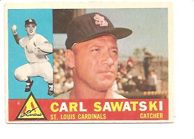 1960 Topps #545 Carl Sawatski EX Actual scan