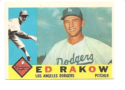 1960 Topps #551 Ed Rakow RC EX Actual scan
