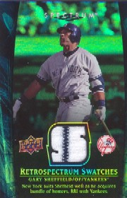 2008 Upper Deck Spectrum Retrospectrum Swatches #GS1 Gary Sheffield