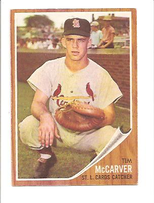 1962 Topps #167 Tim McCarver RC EXMT Actual scan