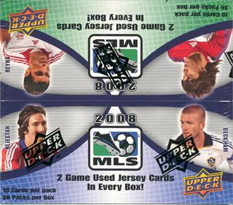2008 Upper Deck MLS Soccer Factory Sealed Hobby Box - 2 Memorabilia Cards ( Possible David Beckham ) Per Box On Avg. - Possible Autographed Cards - In Stock Now