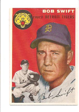 1954 Topps #65 Bob Swift CO
