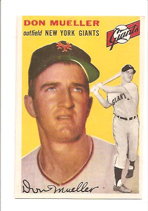 1954 Topps #42 Don Mueller EXMT Actual scan
