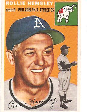 1954 Topps #143 Rollie Hemsley CO