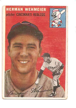 1954 Topps #162 Herman Wehmeier