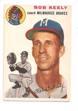 1954 Topps #176 Robert Keely CO