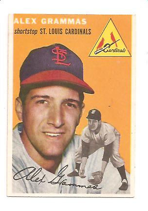 1954 Topps #151 Alex Grammas RC EXMT Actual scan