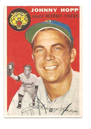 1954 Topps #193 Johnny Hopp CO EXMT Actual scan