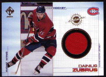 2000-01 Pacific Private Stock Game Gear Jersey #61, Dainius Zubrus