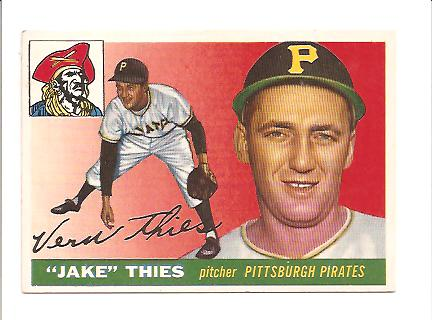 1955 Topps #12 Vernon (Jake) Thies RC