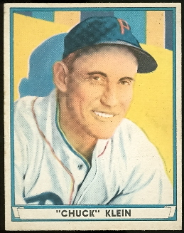 1941 Play Ball #60 Chuck Klein front image