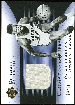 2005-06 Ultimate Collection Jerseys Gold #UJOR Oscar Robertson/20
